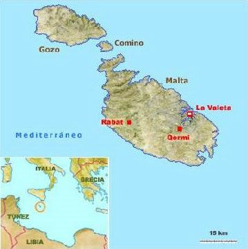 Malta en el mapa