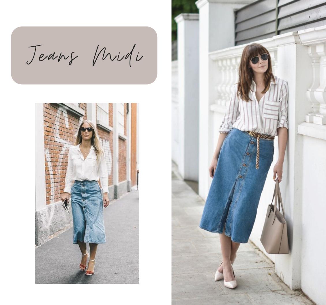 Saia jeans: 9 ideias de como usar