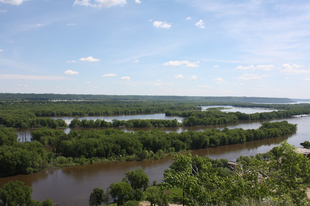 View of the Mississippi River from atop Barn Bluff in Red Wing, Minnesota