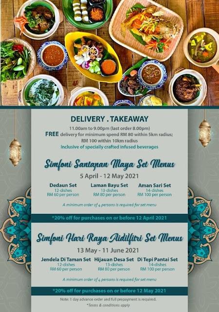 Hotel Maya KL Ramadan 2021 takeaway delivery menu