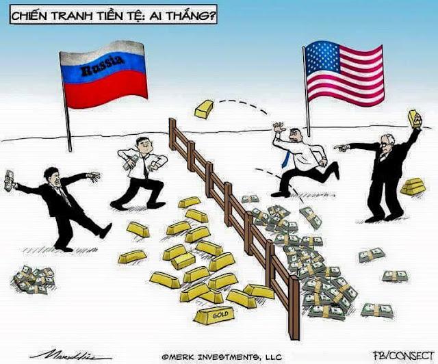 Chiến tranh bản vị VÀNG giữa Nga và Phương Tây nhìn nhận khách quan