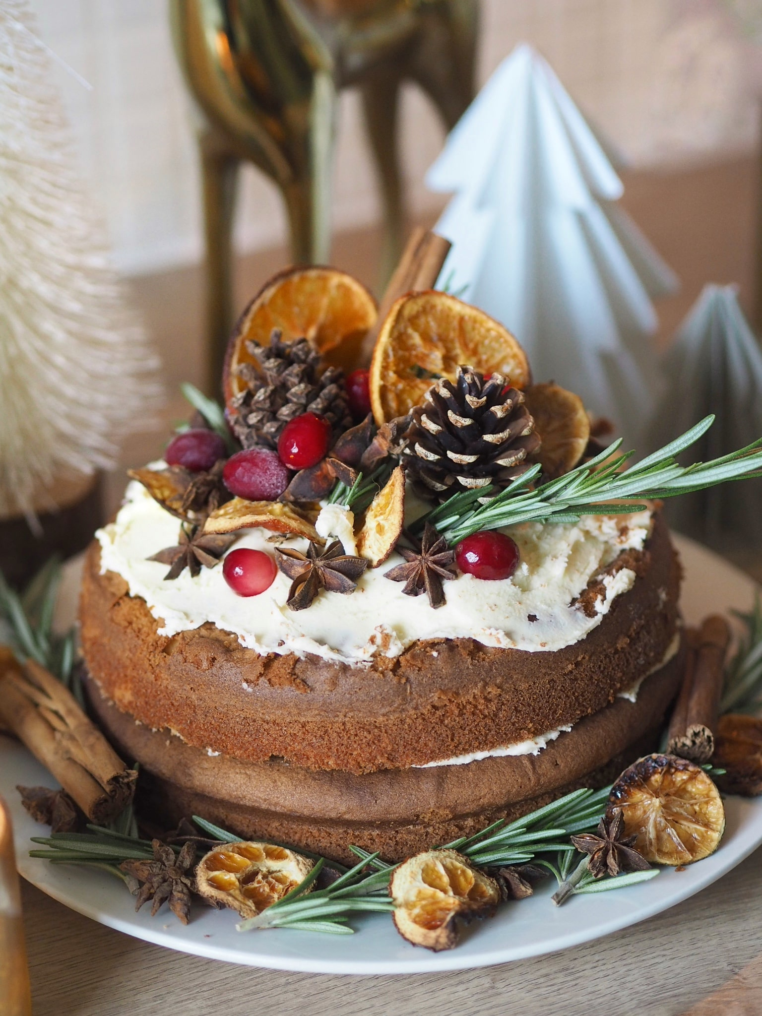 Christmas ginger sponge recipe - perfect alternative Christmas cake in this easy to make recipe
