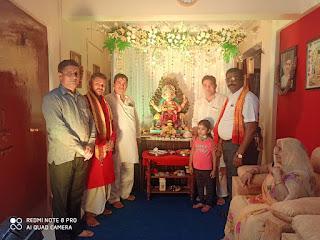 एड.राजकुमार मिश्रा के घर पांच दिवसीय गणपति की स्थापना | #NayaSaberaNetwork