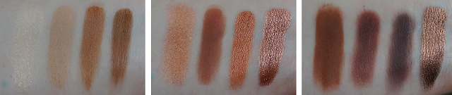 Revue Naked Heat Urban Decay Swatches