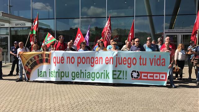 Protesta de Comisiones Obreras ante el BEC!