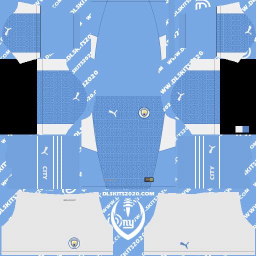 Kits do Manchester City 2021-2022 Puma - Dream League Soccer 19 Kits (Home)