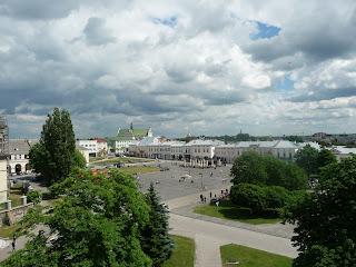 Жолква. Львовская обл. Вид на Вечевую площадь с часовой башни Ратуши