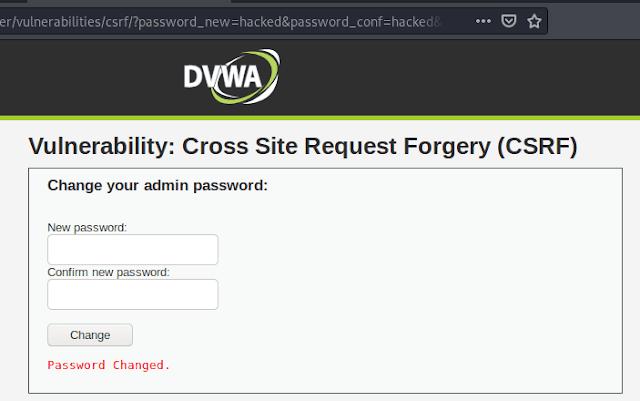 CSRF in DVWA ( Medium)