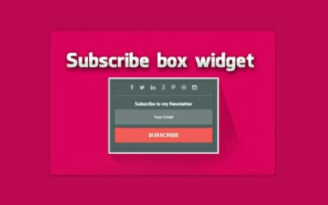 Membuat Subscribe Box With Social Button