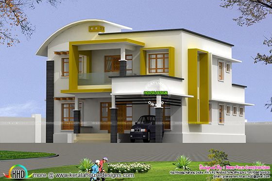 2282 square feet modern 4 BHK home