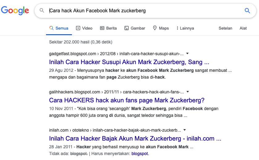 Tips dan cara mudah meng hank akun facebook Zucker Berg