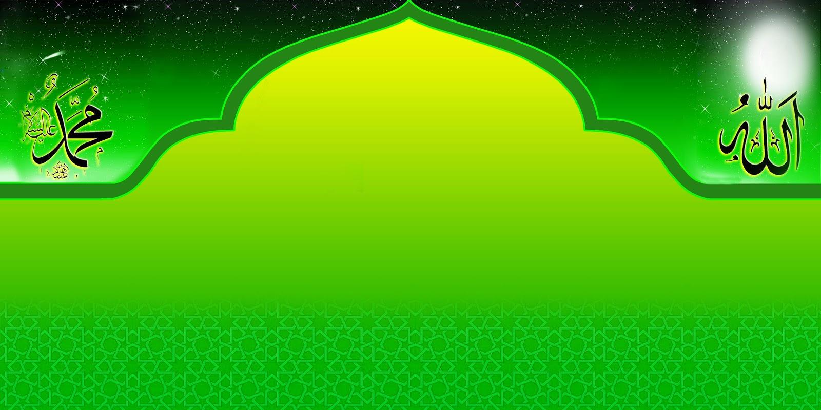 background islami hijau
