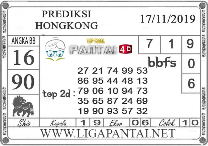 """PREDIKSI TOGEL """"HONGKONG"""" PANTAI4D 17 NOVEMBER 2019"""