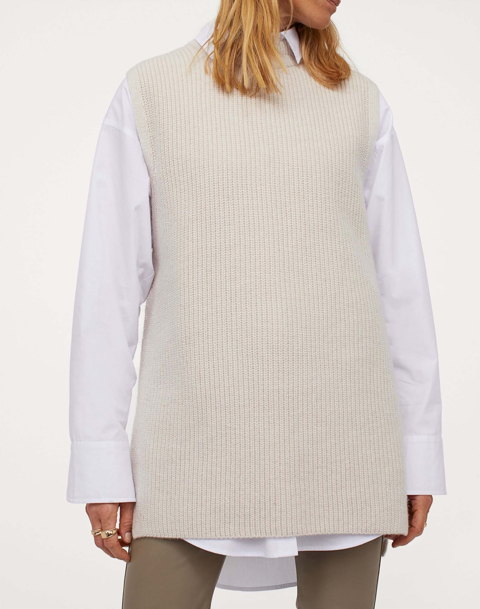 rib-knit sweater vest