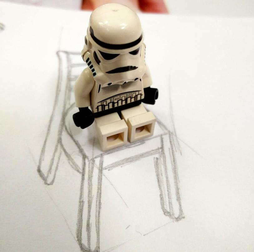 Fotografía de una ficha lego de Star Wars. Foto por Juan Carlos Morales S.