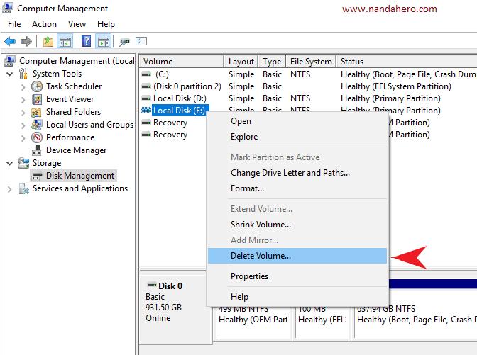 cara membagi partisi hardisk windows 10 8 7 yang tidak digunakan