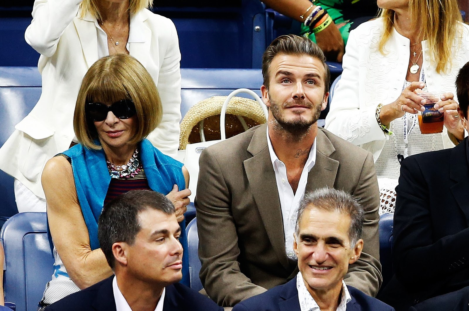 Anna Wintour & David Beckham - US Open 2016