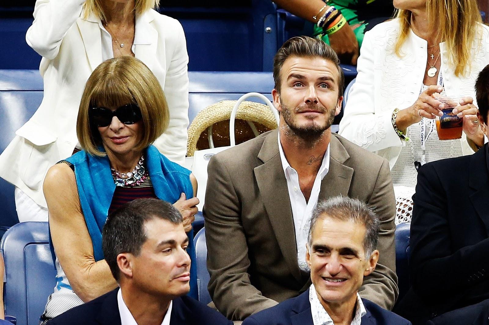 Anna Wintour & David Beckham - US Open 2016