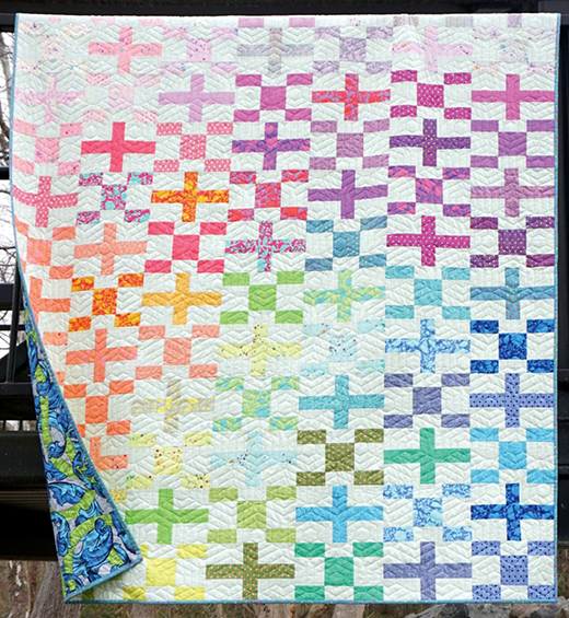 Big Charmer Quilt Designed by Tula Pink for Free Spirit Fabrics, Featuring True Colors & Designer Essential Solids