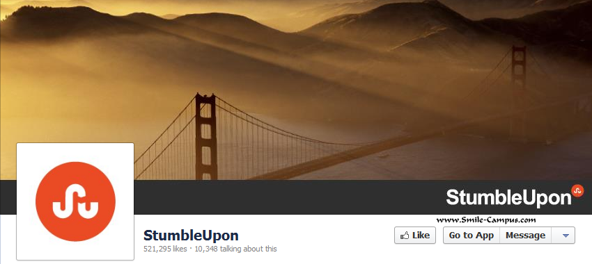 Stumbleupon.com Facebook Timeline Page
