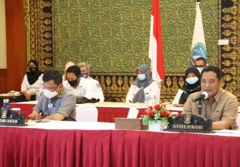 Pjs Gubernur Kepri Bahtiar Baharuddin Pimpin Rapat Bersama Badan Kesbangpol Se-Kepri