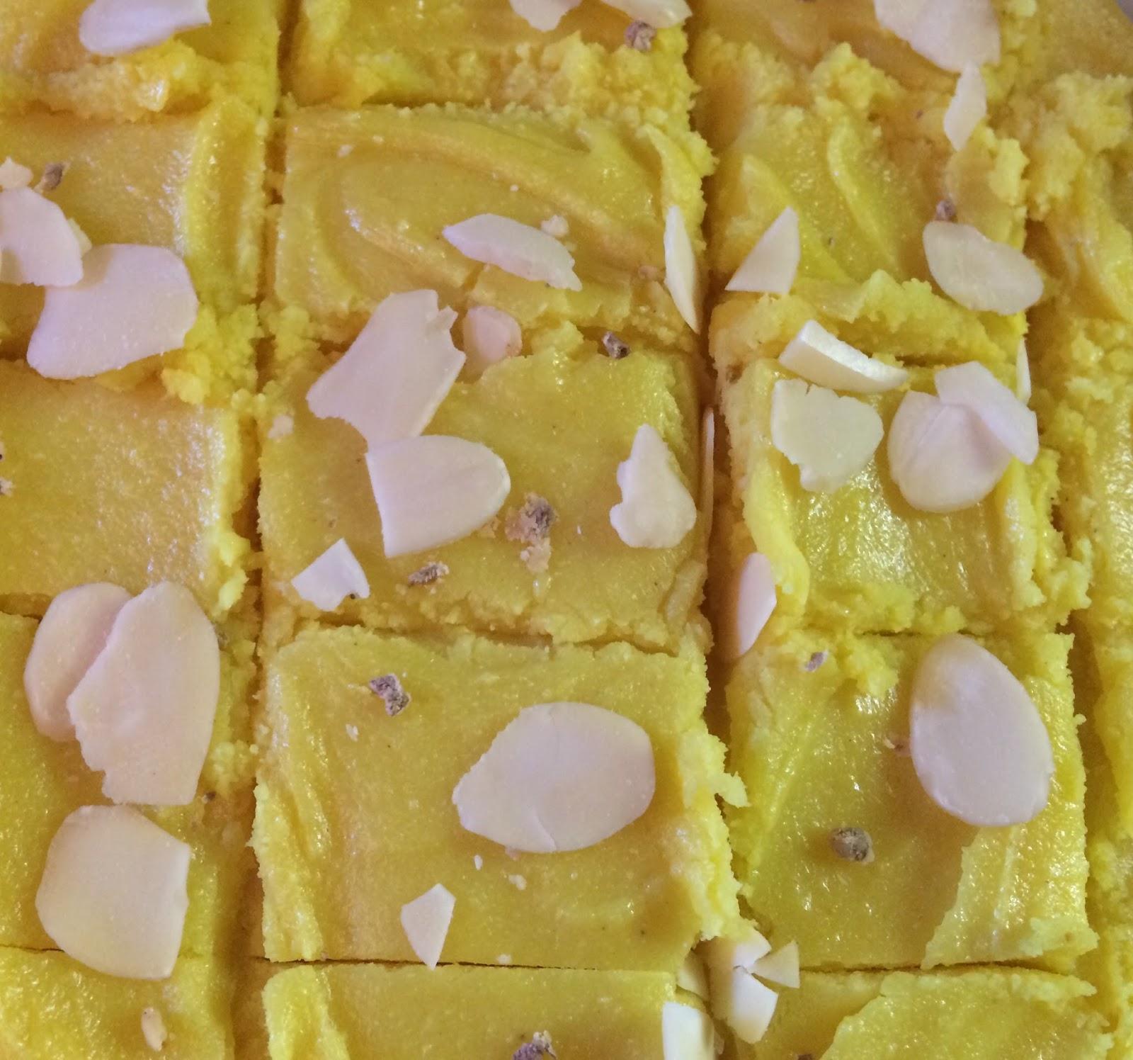 Barfi de lait de farine de noix de fruits art - Cuisiner avec l huile de coco ...