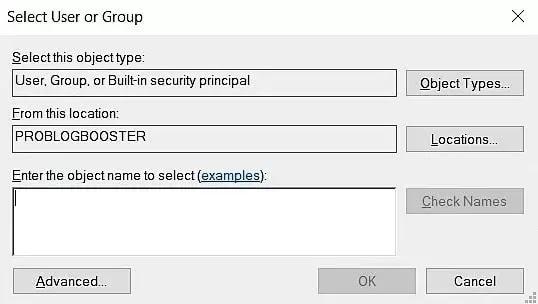 Select User Group