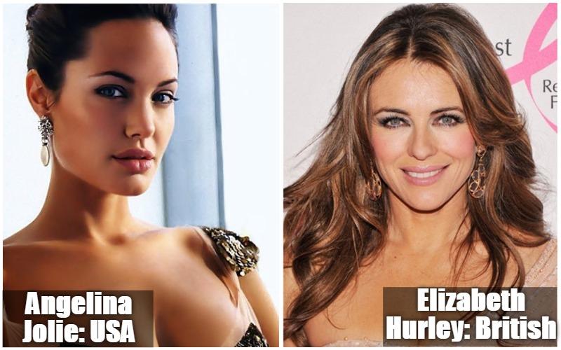 Angelina Jolie Vs Elizabeth Hurley