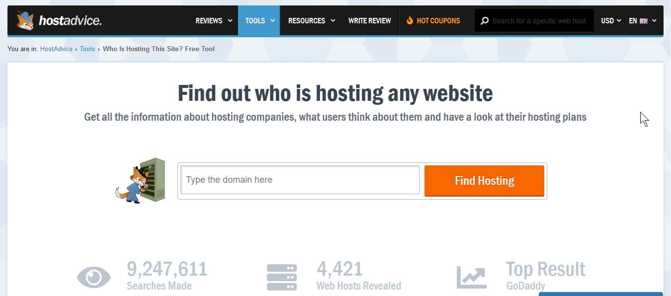 Website hosting details checker tools