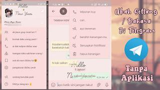 Cara Mengubah Setlang Di Telegram