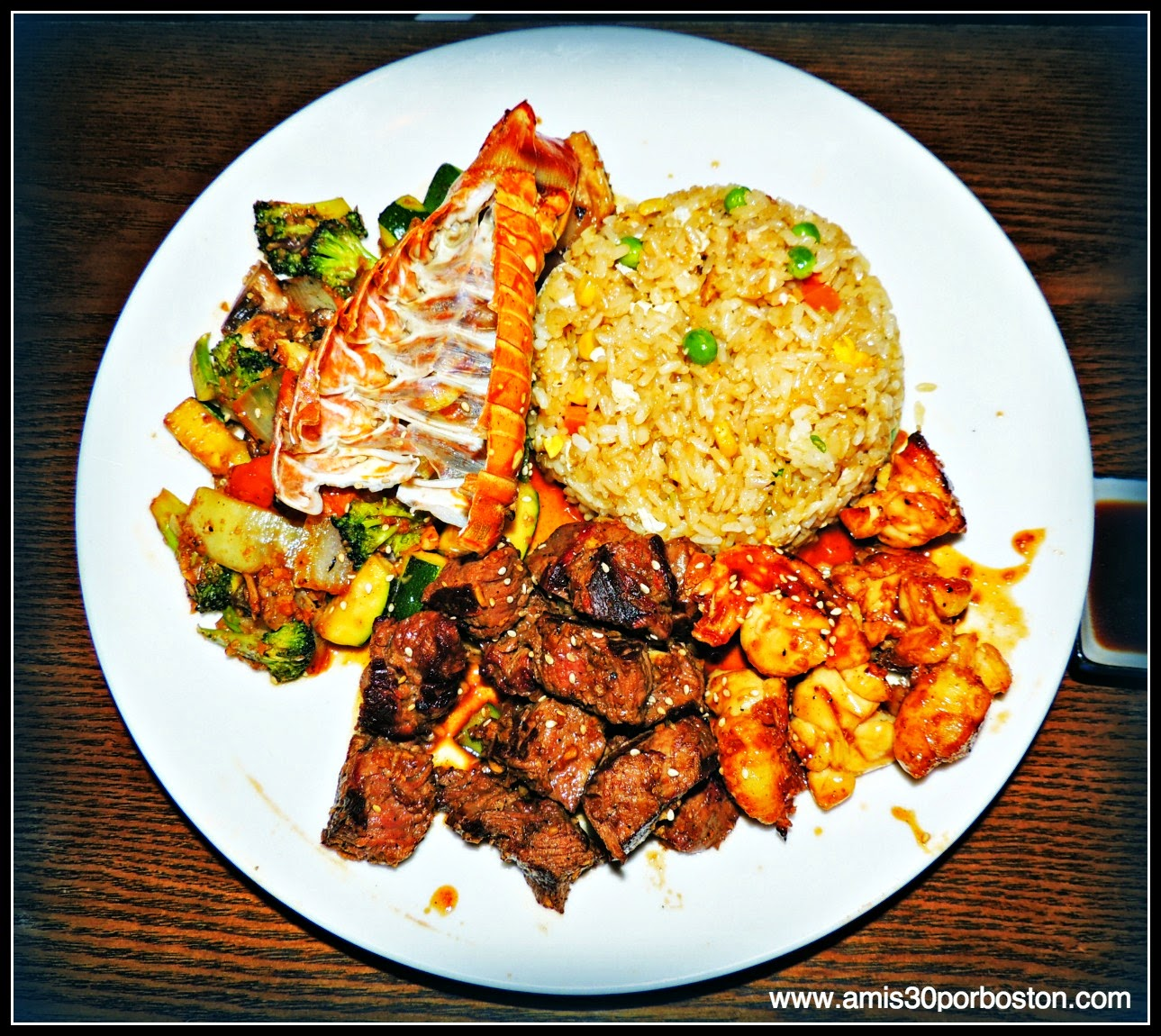 Hibachi Filet Mignon and Lobster tail