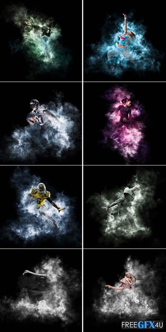 Animated Gif Smoke effect Photoshop Action