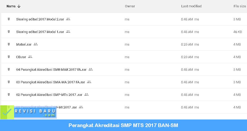 Instrumen Pengumpulan Data Akreditasi SMP