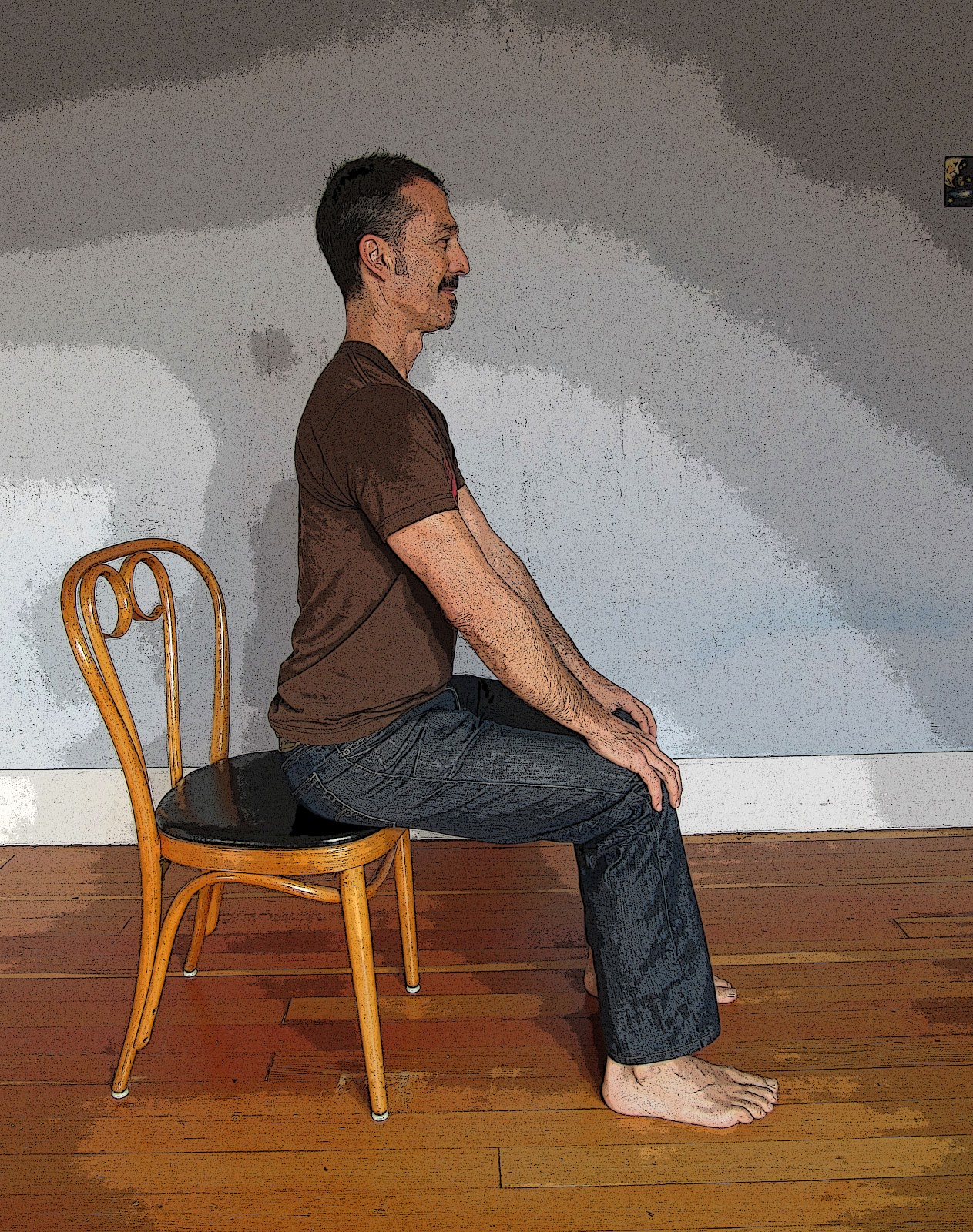 Rocking Chair Yoga Pose Featured Pose Seated Cat Cow Pose Yoga For Healthy Aging