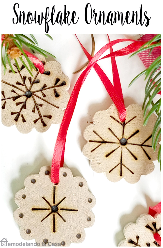 wooden pole repurposed into hundreds of little ornaments