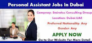 Personal Assistant Job in Dubai, UAE Location