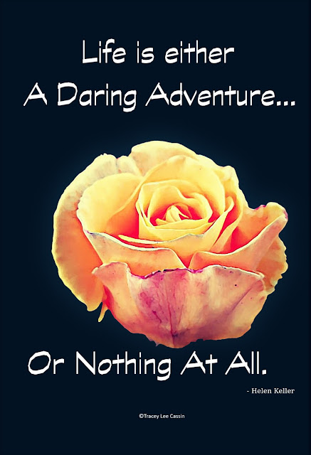 Life Is an adventure or nothing at all quote