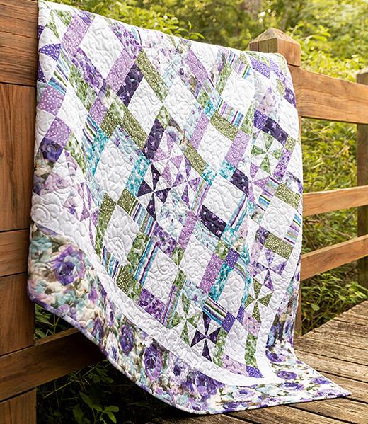 Framed Pinwheels Quilt designed by Jenny of Missouri Quilt Co