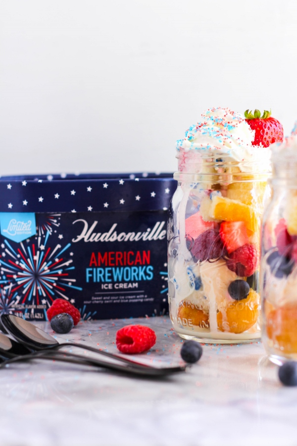 Patriotic Ice Cream Parfaits