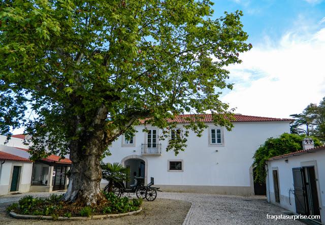 Pátio das carruagens do Hotel Solar Cerca do Mosteiro, em Alcobaça, Portugal