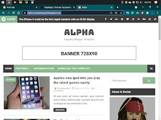 Alpha Premium version Blogger Template