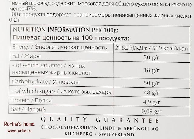 Шоколад Линдт: отзыв