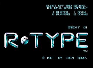 アーケード版 R-TYPE タイトル画面