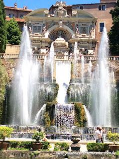 villa deste guia roma portugues fonte orgao chafarizes - Villa D'Este em Tivoli com guia em português