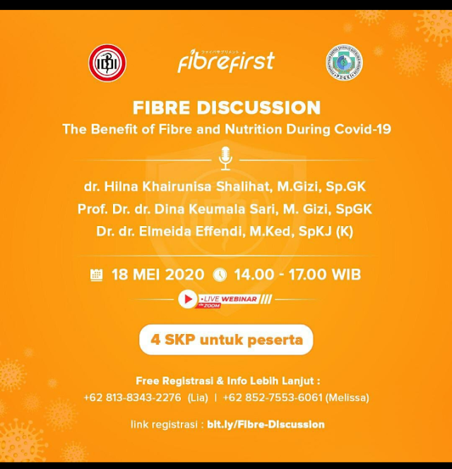 "Web Seminar ""The Benefit of Fibre and Nutrition during Covid-19""  18 Mei 2020"