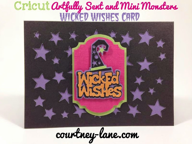 Cricut Artfully Sent Cricut cartridge Wicked Wishes card