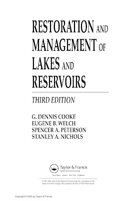 [EBOOK] RESTORATION AND  MANAGEMENT OF LAKES AND RESERVOIRS (THIRD EDITION), MORE WRITER, PUBLISHED BY TAYLOR AND FRANCIS GROUP