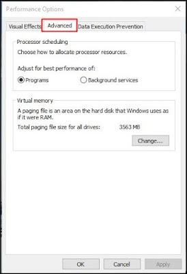 Di Windows baru, klik 'Advanced'
