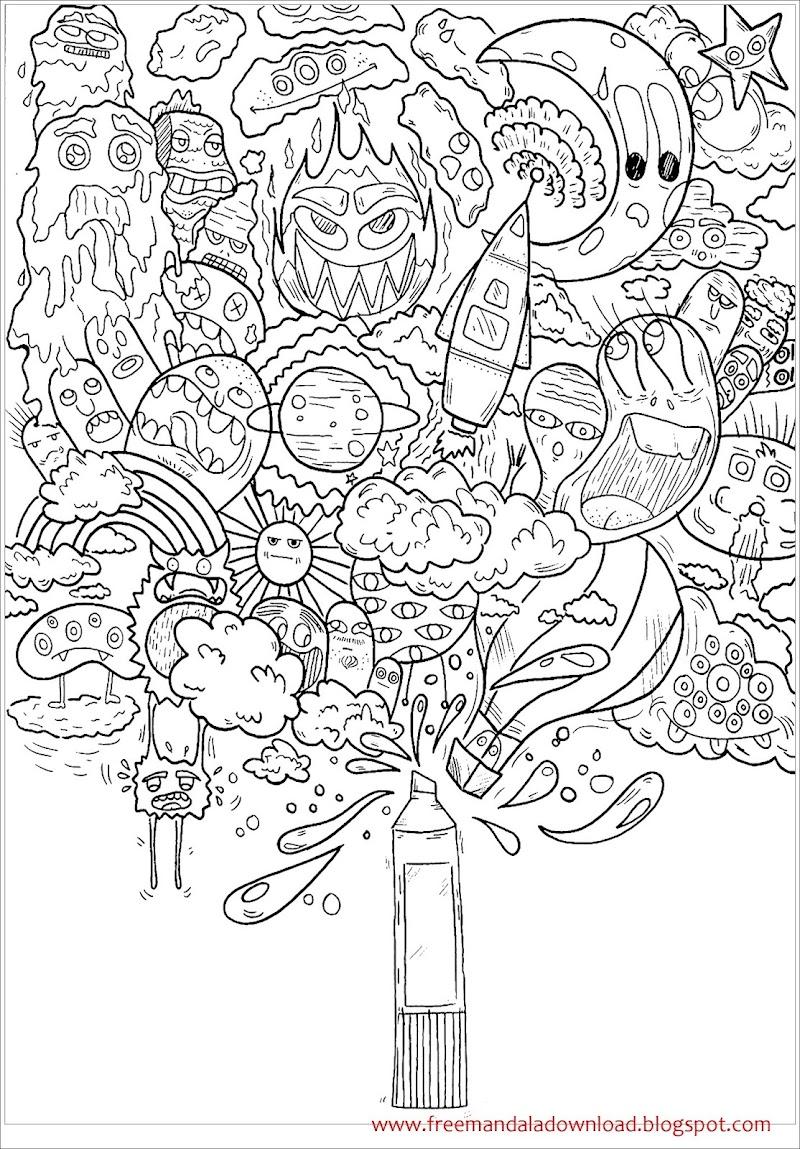 Kostenlose Doodle Art Malvorlagen zum Drucken und Ausmalen ...