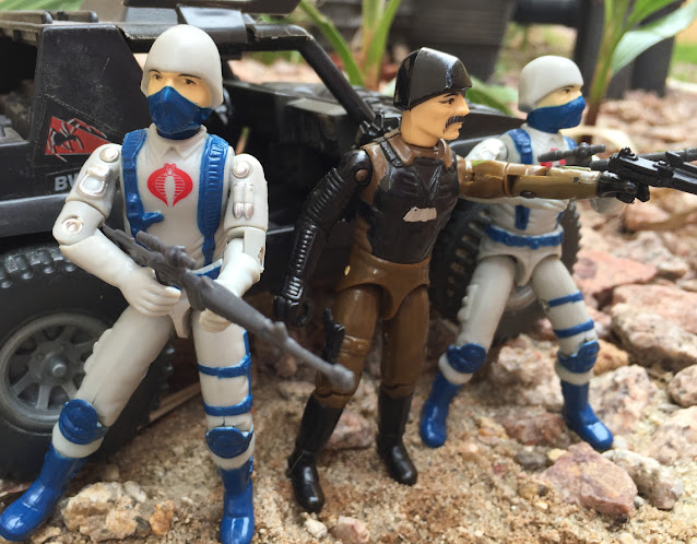 1984 Cobra Stinger, Black Major, Desert Cobra Trooper, Major Bludd, Snow Serpent Troopers